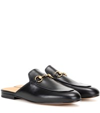 Gucci Princetown Leather Slippers Black