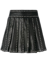 Dsquared2 Studded Pleated Skirt Black