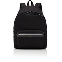 Saint Laurent Men's Canvas Classic Backpack Black Blue Black Blue