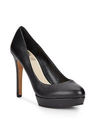 Vince Camuto Darling Leather Platform Pumps Black