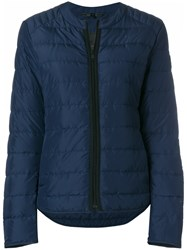 Belstaff Hamford Quilted Down Jacket Blue