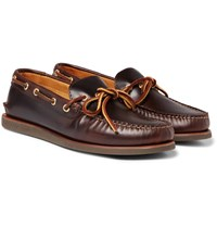 Sperry Top Sider Gold Cup Authentic Leather Boat Shoes Brown