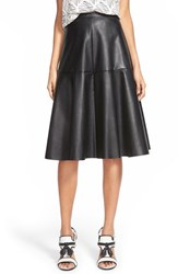 Women's J.O.A. Faux Leather Midi Skirt Black