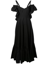 Alberta Ferretti Full Length Dress Women Cotton 38 Black