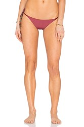 Sofia By Vix Reversible Side Tie Bikini Bottom Burgundy