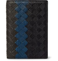 Bottega Veneta Intrecciato Pebble Grain Leather Bifold Cardholder Black
