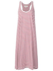The Great Striped Jersey Dress Red