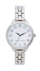Marc Jacobs Betty Watch Sterling Silver White Sunray