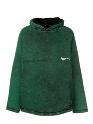 Martine Rose Faded Jersey Hoodie Green
