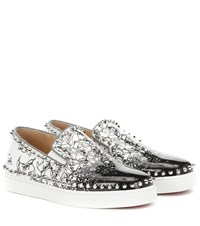 Christian Louboutin Exclusive To Mytheresa Pik Boat Woman Leather Sneakers White