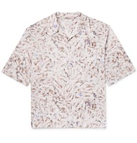 Christophe Lemaire Camp Collar Printed Cotton Shirt Multi