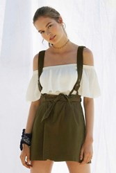 Bdg Lizzy Suspender Mini Skirt Olive