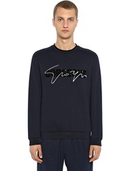 Giorgio Armani Gorgeous Signature Cotton Sweatshirt Navy