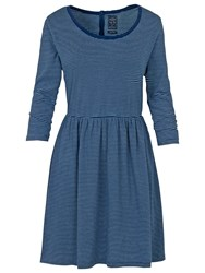 Fat Face Lizzie Stripe Dress Indigo
