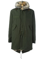 Mr And Mrs Italy Fur Lined Parka Green