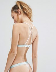 Kitty Coquete By Mimi Holliday Go Go Crossover Bra Nude Mint Cream
