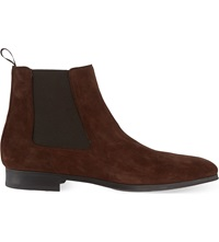 Magnanni Suede Chelsea Boots Brown