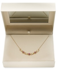 Victoria Townsend 18K Gold Over Sterling Silver Ruby 1 3 4 Ct. T.W. And Diamond Accent Infinity Necklace