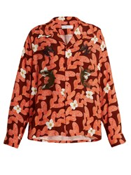 Toga Floral Abstract Print Shirt Red