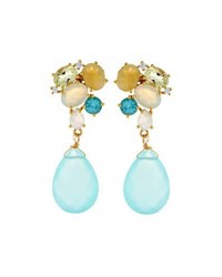 Indulgems Mixed Gemstone Cluster Drop Earrings Multi
