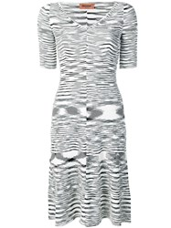 Missoni Abstract Pattern Knitted Dress Black