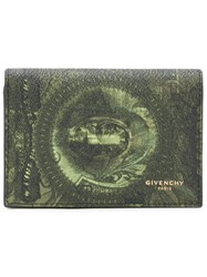 Givenchy Money Print Wallet Men Cotton Polyester Polyurethane One Size Green