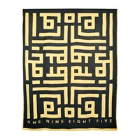 One Nine Eight Five Labyrinth Throw 160X190cm Black