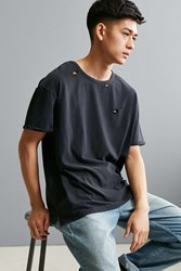 Feathers Destroyed Slouch Fit Tee Washed Black