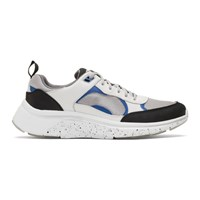 Paul Smith Ps By White And Silver Ajax Sneakers