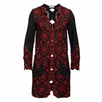 Jiri Kalfar Red Lace Jacket Black Red