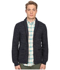 Billy Reid Textured Cardigan Navy Men's Sweater
