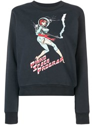 Pinko Black Space Program Sweater Grey