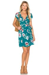 Minkpink Pretty Primrose Wrap Dress Teal