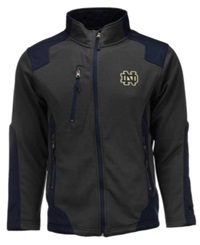 Colosseum Men's Notre Dame Fighting Irish Double Coverage Jacket Charcoal