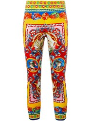 Dolce And Gabbana 'Carretto Siciliano' Print Leggings Multicolour