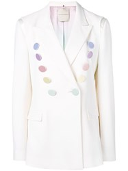 Marco De Vincenzo Embellished Tailored Blazer White