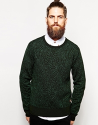 Scotch And Soda Jumper With Animal Pattern Green