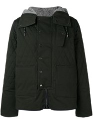 Pringle Of Scotland Quilted Twill Jacket In Hunter Green