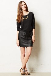 Anthropologie Brava Vegan Leather Dress Black