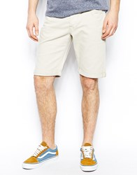Lee 5 Pocket Shorts Straight Fit Stretch Coloured Denim Beige