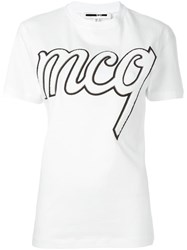 Mcq By Alexander Mcqueen Logo Patch T Shirt White