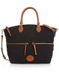 Dooney And Bourke Nylon Large Pocket Satchel Black