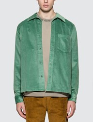 Acne Studios Denver New Cord Shirt Green