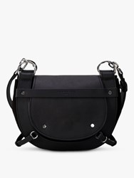 Liebeskind Berlin Saddle Leather Cross Body Bag Black