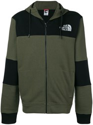 The North Face Logo Colour Block Hoodie Green