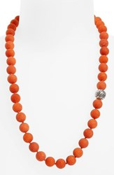 Simon Sebbag Women's Stone Beaded Necklace Matte Orange