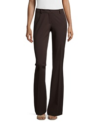 Michael Kors Mid Rise Contour Flare Trousers Chocolate