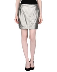 Blk Dnm Mini Skirts Silver