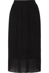 Iris And Ink Fern Pleated Polka Dot Georgette Midi Skirt