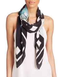 Swash Era Explorer Silk Scarf Black Multi
